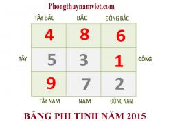 PHI TINH LƯU NIÊN 2015 - CÁCH HÓA GIẢI VÀ KÍCH HOẠT PHI TINH